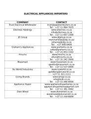 Electrical appliances importers.doc