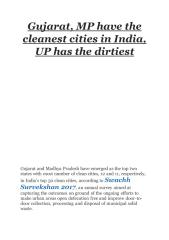 Gujarat, MP have the cleanest cities in India, UP has the dirtiest.pdf