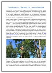 Tree Removal Calabasas For Unseen Benefits.docx