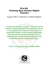 HR Training Pre-GA - Summary.doc