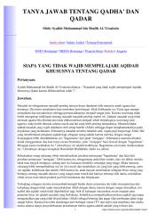 muhammad bin shalih al-'utsaimin - tanya jawab qadha & qadar.pdf