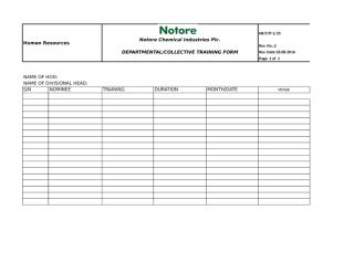 Departmental and Collective Training Form.xls
