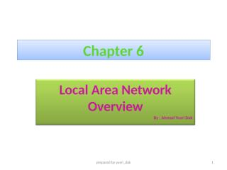 Chapter 6 LAN Overview.ppt